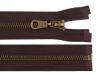 Staromosazný zip šíře 6 mm délka 50 cm bundový (1 ks)