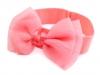 Dětská elastická čelenka do vlasů s mašlí (1 ks)
