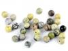 Minerálové korálky Žlutý tyrkys Ø6 mm (10 ks)