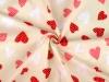 Bavlněná látka srdce (1 m)