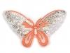 Nažehlovačka motýl s flitry (1 ks)