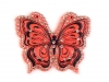 Nažehlovačka motýl s broušenými kamínky (10 ks)