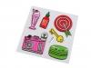 Samolepící ozdoby na oděvy a doplňky (1 karta)