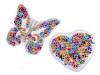 Nažehlovačka srdce, motýl s flitry (1 ks)