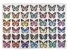 Nažehlovačka motýl s kamínky (6 ks)