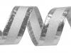 Stuha šíře 25 mm s lurexem a drátem (25 m)
