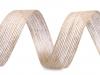 Jutová stuha dvoubarevná šíře 25 mm (10 m)