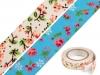 Samolepící textilní páska šíře 14 mm květy (1 ks)