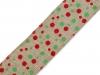 Jutová stuha s drátem vánoční šíře 65 mm (1 ks)