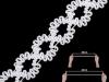 Ozdobná pruženka na výrobu choker náhrdelníku šíře 15 mm (1 m)