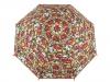 Dětský vystřelovací deštník s píšťalkou, sova, dinosaurus, auta, vesmír (1 ks)