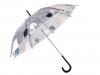 Dětský průhledný vystřelovací deštník s medvědy (1 ks)