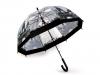 Dámský průhledný deštník Paříž (1 ks)