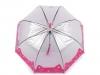 Dívčí průhledný deštník kočka (1 ks)