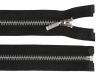 Kovový / mosazný zip šíře 6 mm délka 80 cm (1 ks)