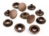 Kovové druky Ø15 mm (AM6) - sypané staromosazné (100 ks)