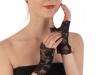 Společenské rukavice 14 cm krajkové bez prstů (1 pár)