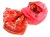 Šifonový šátek s květy 140x140 cm (1 ks)