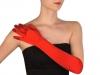 Společenské saténové rukavice 45 cm (1 pár)