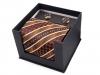 Saténová kravata s kapesníkem a manžetovými knoflíčky (1 sada)