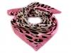 Saténový šátek 57x57 cm s leopardím potiskem (1 ks)