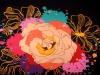 Šátek 130x130 cm s potiskem květu (1 ks)