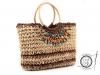 Pletená taška 30x45 cm s korálky (1 ks)