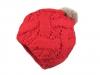 Dámská zimní čepice s pravou kožešinovou bambulí (1 ks)