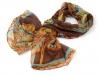 Hedvábný šátek s ornamenty 70x170 cm (1 ks)