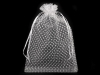 Dárkový pytlík 16,5x24,5 cm organza s puntíky (10 ks)