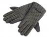 Dámské úpletové rukavice puntíkované (1 pár)