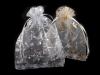 Dárkový pytlík 13x18 cm organza s vločkami (10 ks)