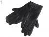 Dámské kožené rukavice s knoflíky (1 pár)