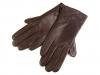 Dámské kožené rukavice hnědé / černé (1 pár)