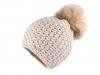 Dámská / dívčí zimní čepice s bambulí Capu (1 ks)