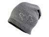 Dívčí zimní čepice Capu se srdíčky (1 ks)