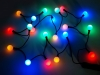 Světelný LED řetěz koule (1 sada)