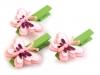 Dřevěné kolíčky - květ, motýl (2 sada)