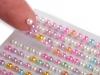 Samolepící perly na lepícím proužku Ø3 mm (1 karta)