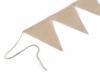 Závěsná dekorace jutové vlajky 6 ks (1 sada)