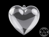 Plastová krabička srdce 10x10 cm dvoudílné (1 ks)
