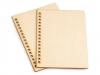 Dřevěné desky na výrobu zápisníku (2 ks)