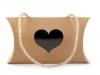Dárková krabička srdce s průhledem a uchem (1 ks)