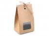 Papírová krabička natural s průhledem a provázkem (2 ks)