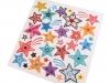 Samolepky barevné vánoční / celoroční (1 karta)