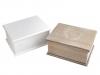 Svatební dřevěná krabička s víkem 14x18 cm (1 ks)