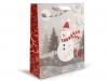 Dárková taška vánoční s glitry 26x32 cm (1 ks)