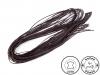 Kožený řemínek šíře 2 mm, 120 cm (20 ks)