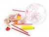 Nafukovací balónky s kuličkami a pumpičkou (1 sada)