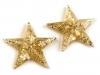 Samolepicí dekorace hvězdy s glitry Ø30 mm (18 ks)